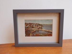 Brixham Harbour Vintage Framed Postcard