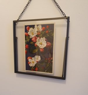 Framed Vintage Flowers Postcard