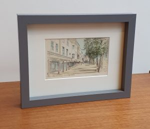 Framed Vintage Postcard of The Pantiles at Tunbridge Wells