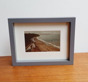 Framed Vintage Postcard of The Sands at Whitby