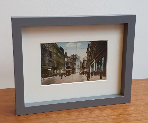 Framed Vintage postcard of Union Street in Glasgow