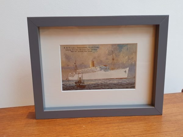 P&O RMS Strathmore Vintage Framed Postcard