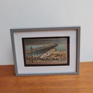 Vintage Postcard of Palace Pier Brighton Framed Stood