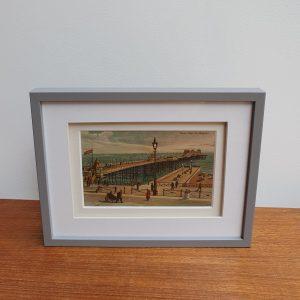 Marine Palace Pier Vintage Postcard Framed Stood