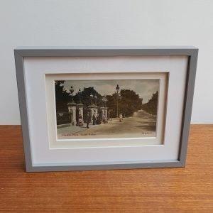 Preston Park South Gates in Brighton Vintage Postcard
