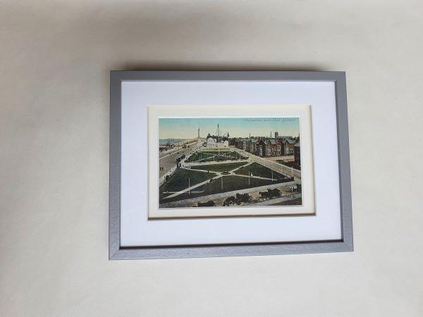 South Shore Gardens in Blackpool Vintage Framed Postcard Flat
