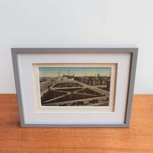 South Shore Gardens in Blackpool Vintage Framed Postcard