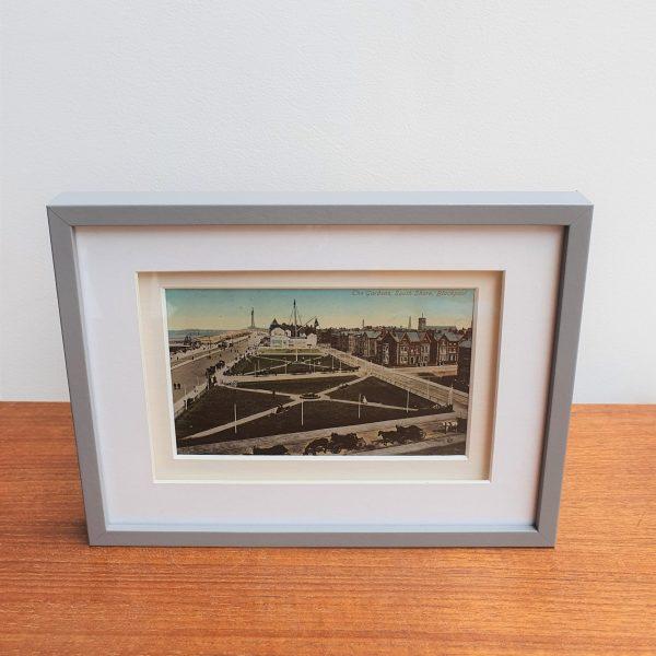 South Shore Gardens in Blackpool Vintage Framed Postcard