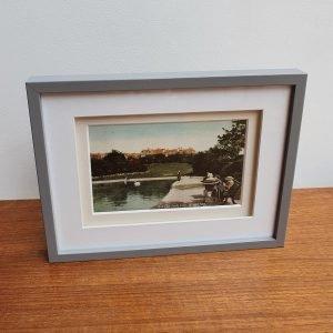 Queens Park Lake Brighton Vintage Postcard Framed Stood