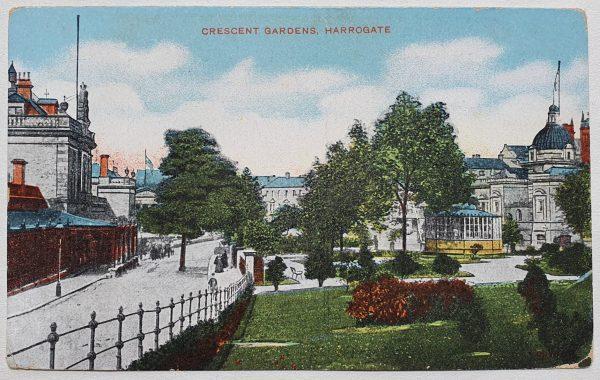 Crescent Gardens Harrogate Vintage Postcard_113155