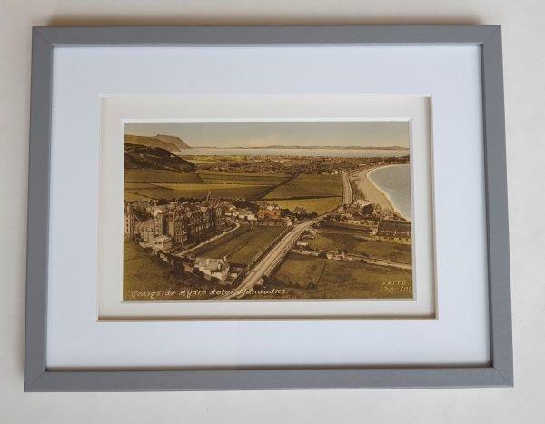 Craigside Hydro Hotel in Llandudno - Vintage Framed Postcard Flat