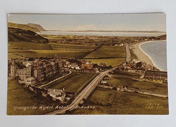 Craigside Hydro Hotel in Llandudno - Vintage Postcard