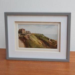 Folkestone The Lees Vintage Postcard Framed