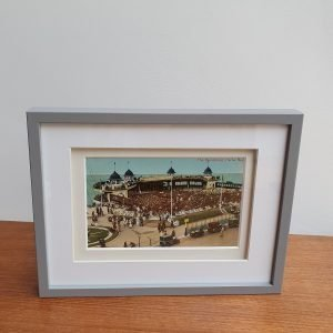 Herne Bay Bandstand - Vintage Postcard Framed Standing