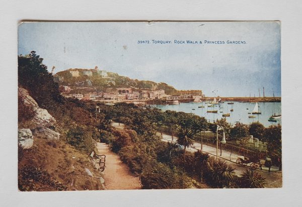 Torquay Rock Walk & Princess Gardens Vintage Postcard
