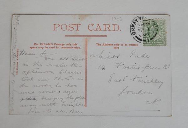 Yarmouth Gardens & Tower Vintage Postcard Back