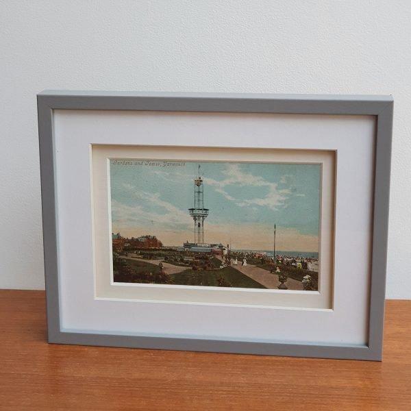 Yarmouth Gardens & Tower Vintage Postcard Stood