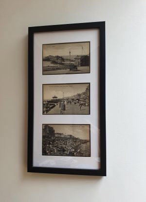 Brighton Framed Vintage Postcard Trio