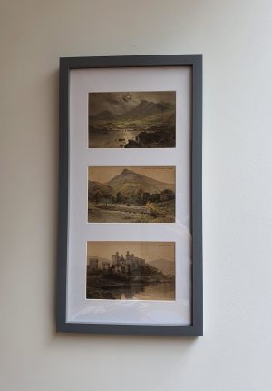 North Wales Vintage Postcard Trio far