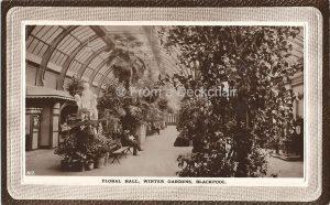 Floral Hall, Winter Gardens, Blackpool Vintage Postcard