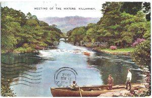 Killarney Meeting of Waters Vintage Postcard