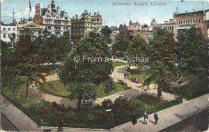 Leicester Square London Vintage Postcard