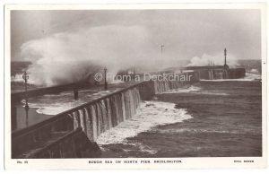 Rough Sea Bridlington Vintage Postcard