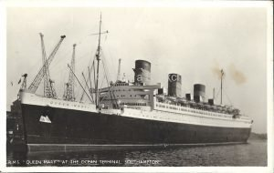 RMS Queen Mary Vintage Postcard