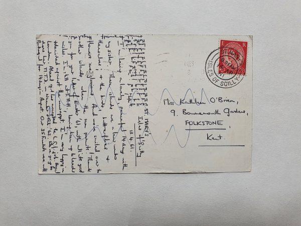 Scilly Isles Vintage Postcard Back