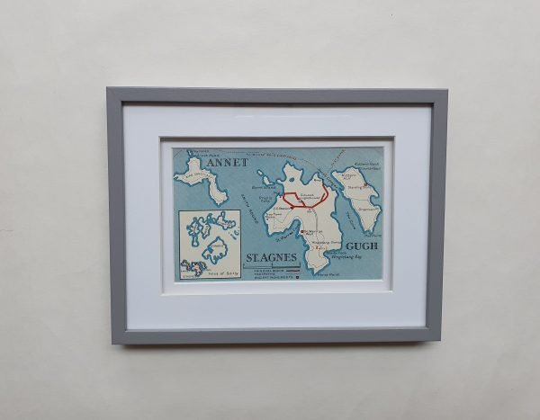 Scilly Isles Vintage Postcard Framed Flat
