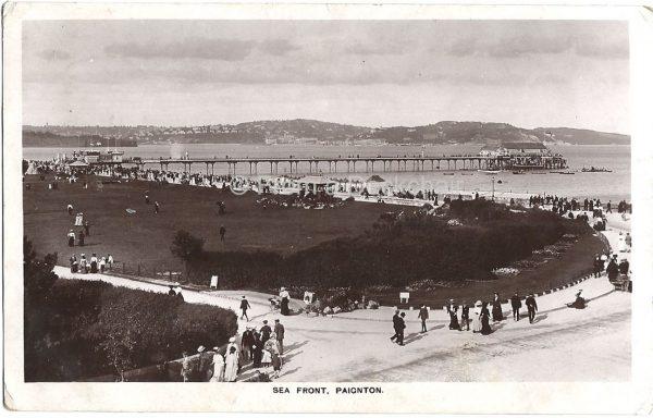 Sea Front Paignton Vintage Postcard