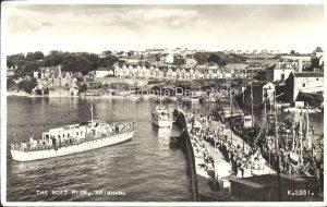 The Boat Pier Brixham Vintage Postcard