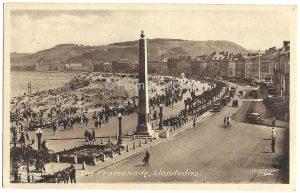 The Promenade Llandudno Vintage Postcard