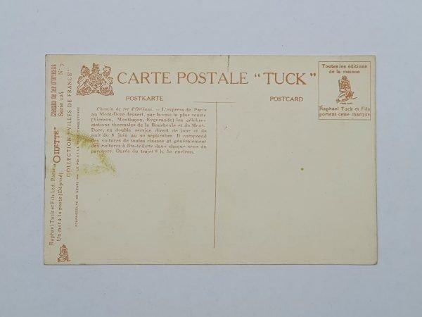 Chemin De Fer D'Orleans - Express de Paris Vintage Postcard Back