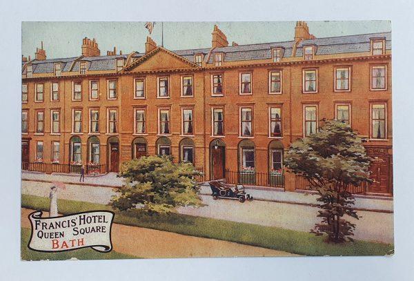 Francis Hotel Bath Vintage Postcard