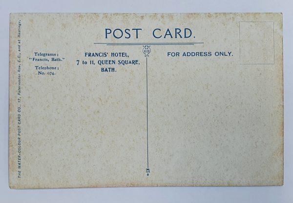 Francis Hotel Bath Vintage Postcard Back