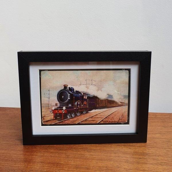 Great Eastern Express Vintage Postcard Framed