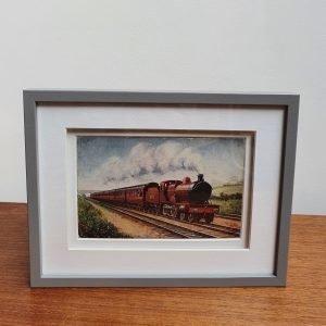 Scotch Express Vintage Postcard Framed